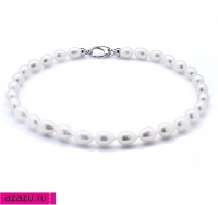 Ожерелье из 30 жемчужин из белого речного жемчуга *5783