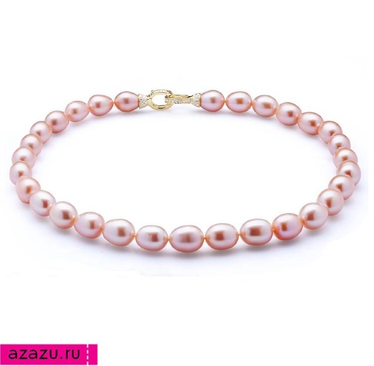 Ожерелье из 30 жемчужин из розового каплевидного жемчуга *5784 Выполненное из 30 розовых жемчужин ожерелье. Красивый натуральный розовый цвет жемчуга.